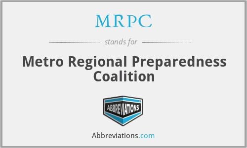 MRPC - Metro Regional Preparedness Coalition