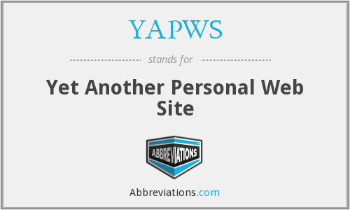 YAPWS - Yet Another Personal Web Site