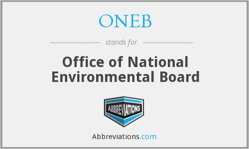 ONEB - Office of National Environmental Board