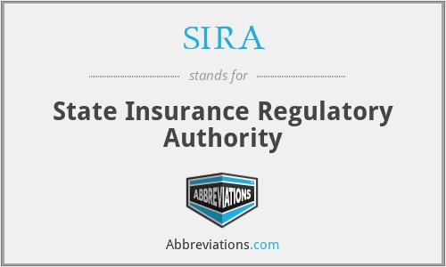 SIRA - State Insurance Regulatory Authority