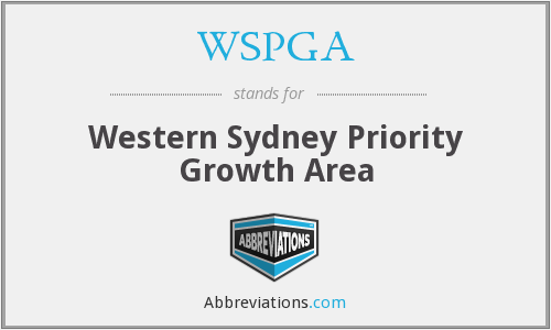 WSPGA - Western Sydney Priority Growth Area