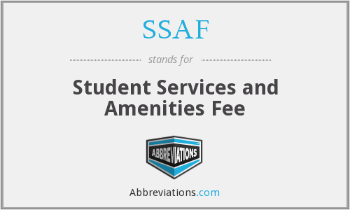 What does SSAF stand for?