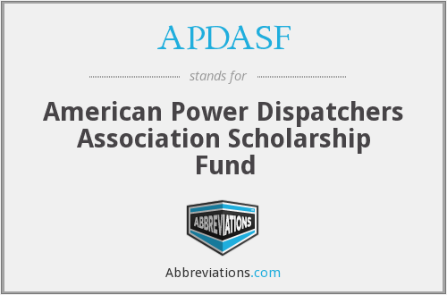 APDASF - American Power Dispatchers Association Scholarship Fund