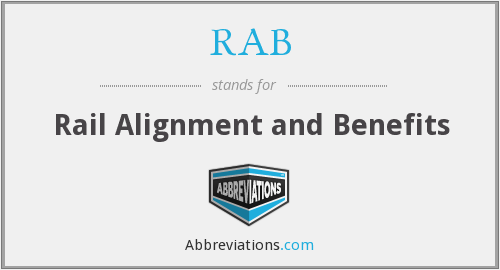 RAB - Rail Alignment and Benefits