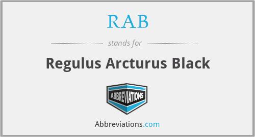 RAB - Regulus Arcturus Black
