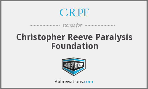 CRPF - Christopher Reeve Paralysis Foundation