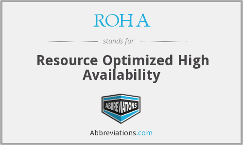 What does ROHA stand for?