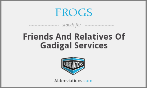 FROGS - Friends And Relatives Of Gadigal Services