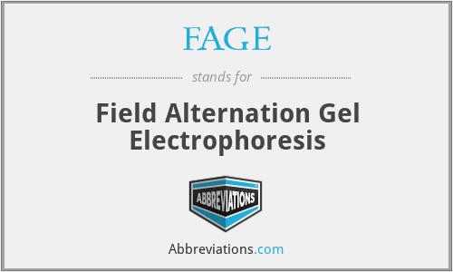 FAGE - Field Alternation Gel Electrophoresis
