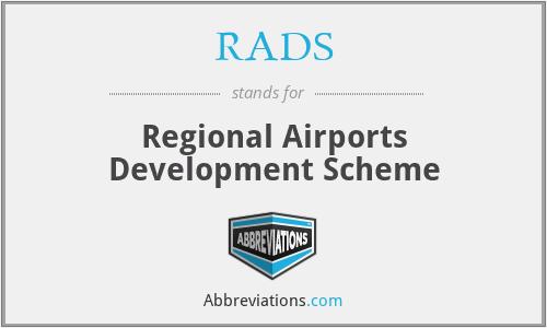 RADS - Regional Airports Development Scheme