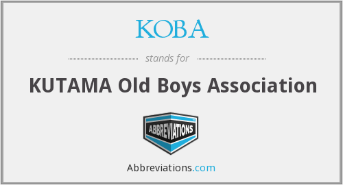 What does KOBA stand for?
