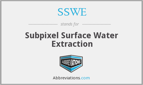 SSWE - Subpixel Surface Water Extraction