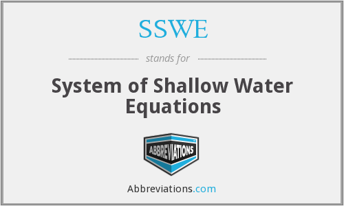 SSWE - System of Shallow Water Equations