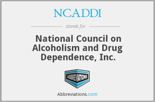NCADDI - National Council on Alcoholism and Drug Dependence, Inc.