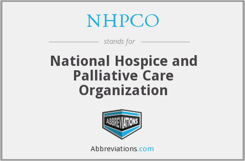 What does NHPCO stand for?