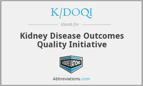 K/DOQI - Kidney Disease Outcomes Quality Initiative