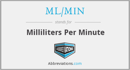 What does ML/MIN stand for?