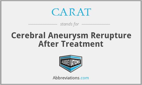CARAT - Cerebral Aneurysm Rerupture After Treatment