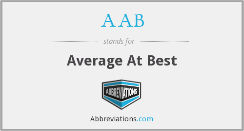 AAB - Average At Best