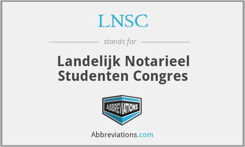 LNSC - Landelijk Notarieel Studenten Congres