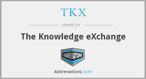 TKX - The Knowledge eXchange