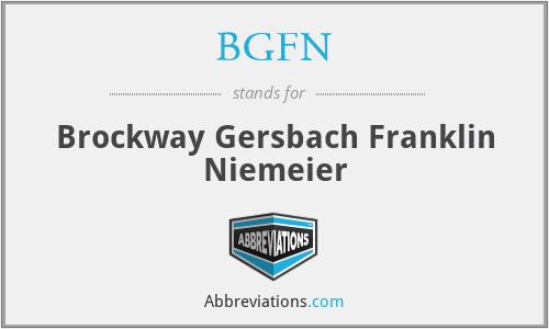 BGFN - Brockway Gersbach Franklin Niemeier
