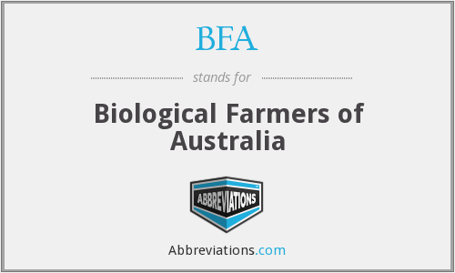 BFA - Biological Farmers of Australia