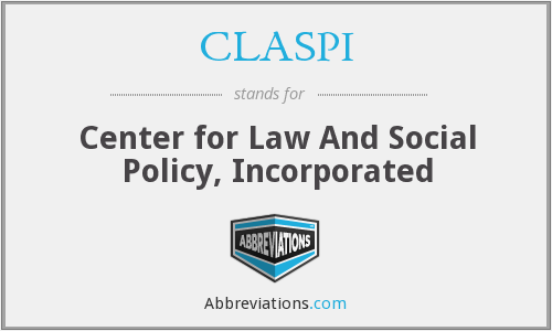CLASPI - Center for Law And Social Policy, Inc.