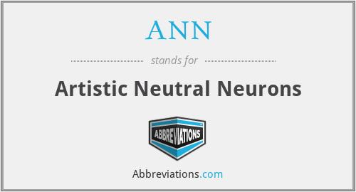 ANN - Artistic Neutral Neurons