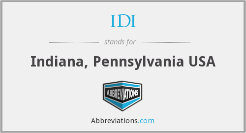 IDI - Indiana, Pennsylvania USA