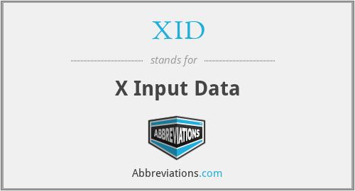 XID - X Input Data