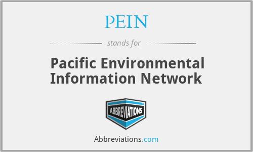PEIN - Pacific Environmental Information Network