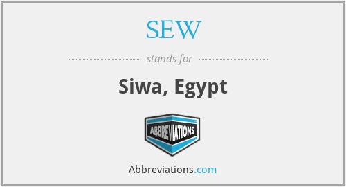 SEW - Siwa, Egypt