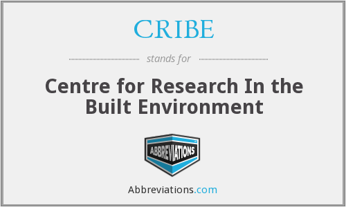 What does CRIBE stand for?