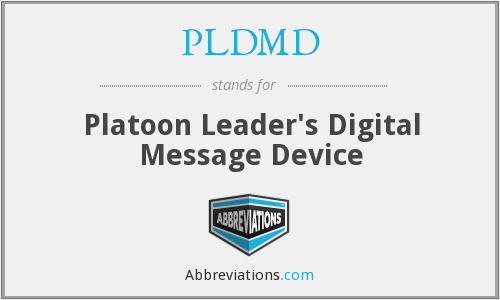 What does PLDMD stand for?