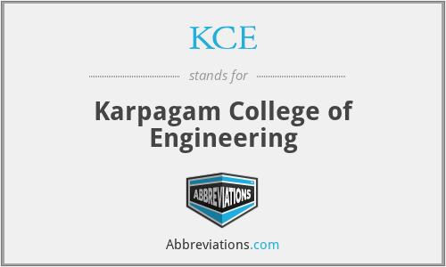 KCE - Karpagam College of Engineering