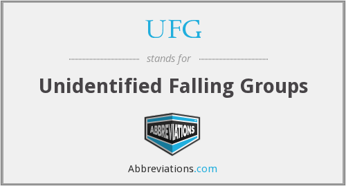 UFG - Unidentified Falling Groups