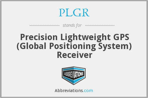 What does PLGR stand for?