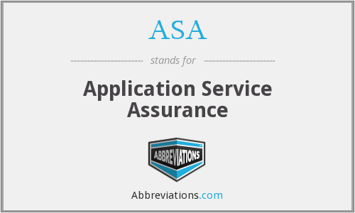 ASA - Application Service Assurance