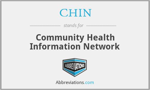 CHIN - Community Health Information Network