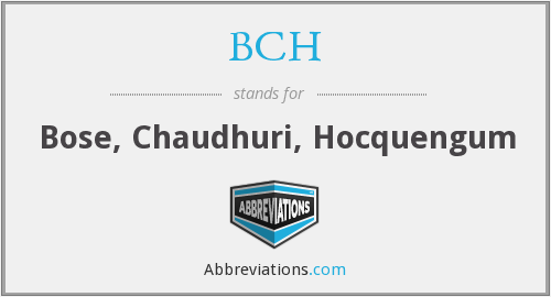 BCH - Bose, Chaudhuri, Hocquengum