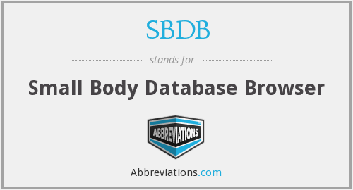 SBDB - Small Body Database Browser