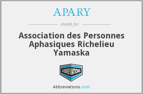 What does APARY stand for?