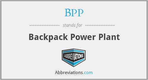 BPP - Backpack Power Plant