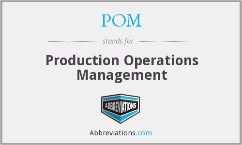 POM - Production Operations Management