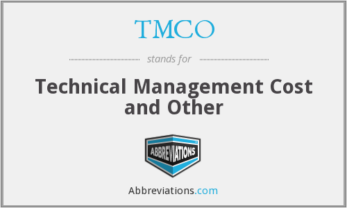 TMCO - Technical Management Cost and Other