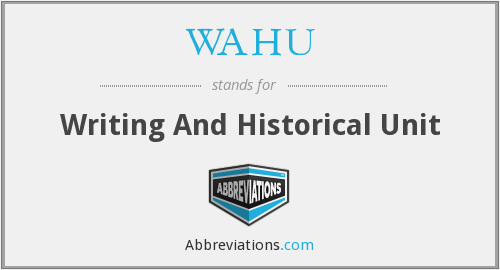 What does WAHU stand for?