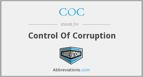COC - Control Of Corruption