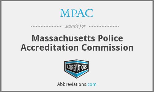 MPAC - Massachusetts Police Accreditation Commission
