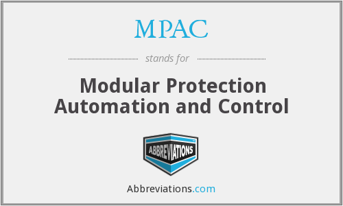 MPAC - Modular Protection Automation and Control